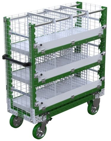 Shelf Cart w. Dividers - 490 x 1260 mm