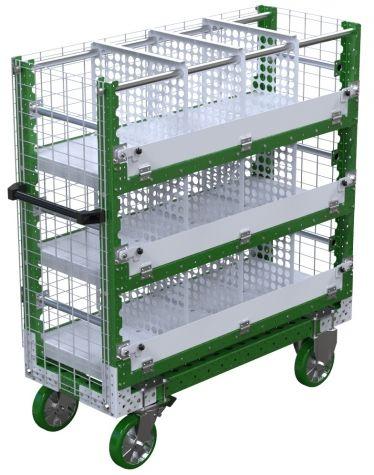 Shelf Cart w. Dividers - 490 x 1260 mm