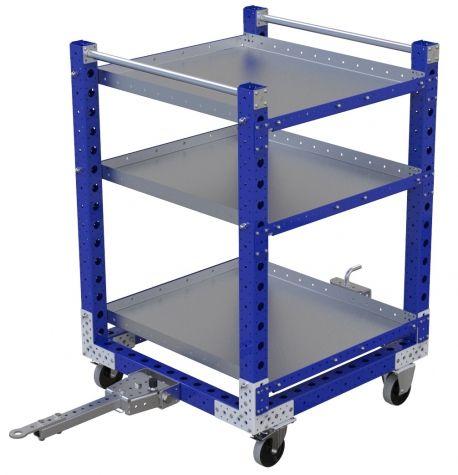 Flat Shelf Cart - 910 x 910 mm