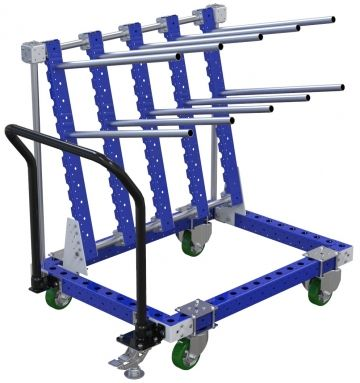 Modular & industrial material handling hanging cart by FlexQube