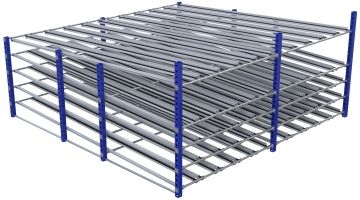 Modular & industrial material handling flow rack by FlexQube