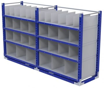 Modular & industrial material handling compartment rack by FlexQube