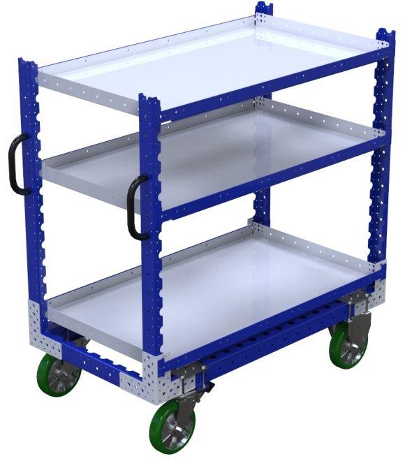 Modular & industrial material handling shelf cart by FlexQube