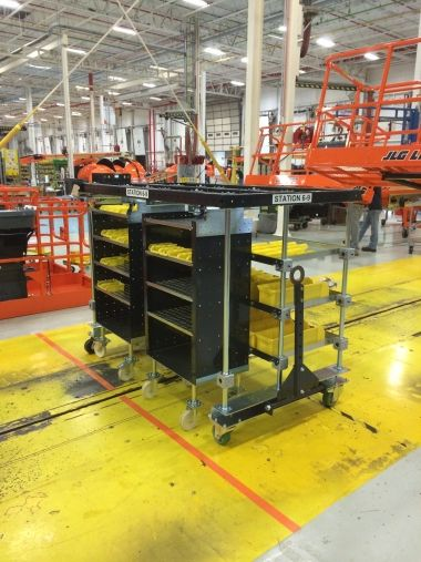 2 in 1 mother daughter cart from FlexQube at JLG industries