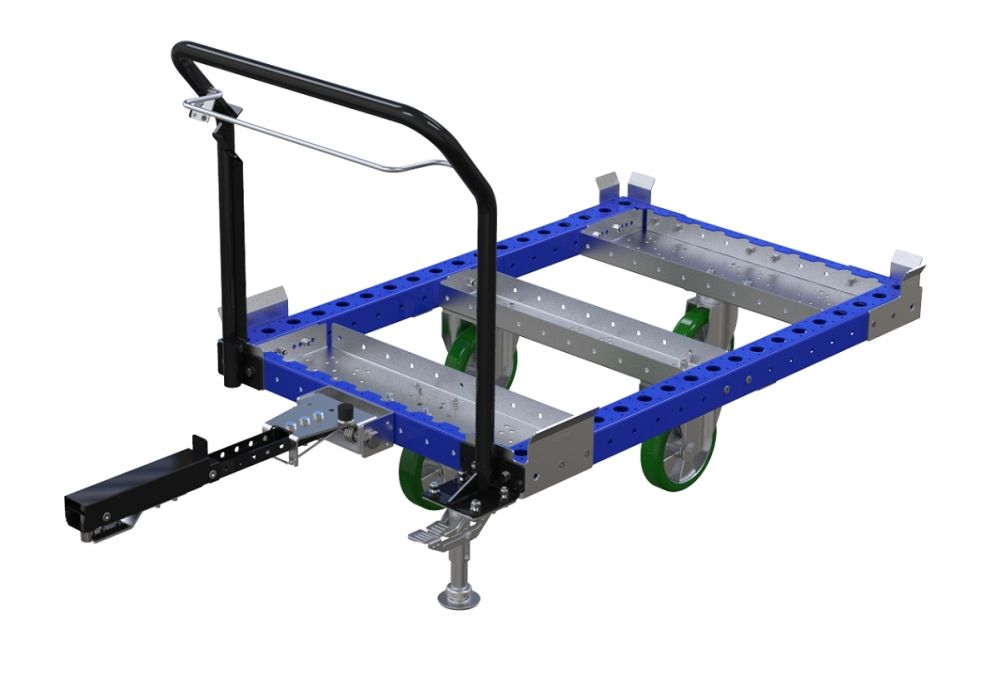 FlexQube tugger cart with handlebar