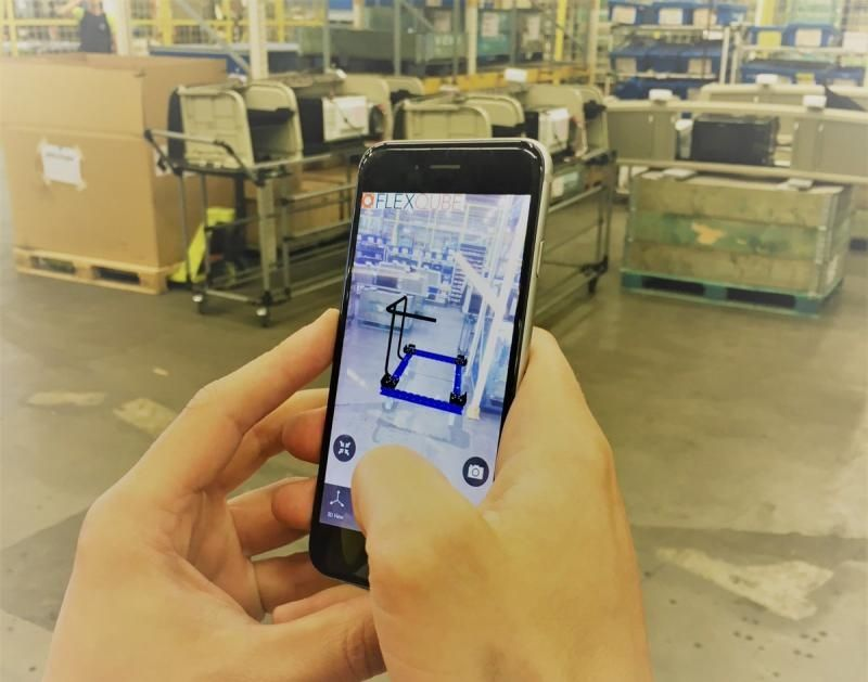 Augmented reality app with FlexQube