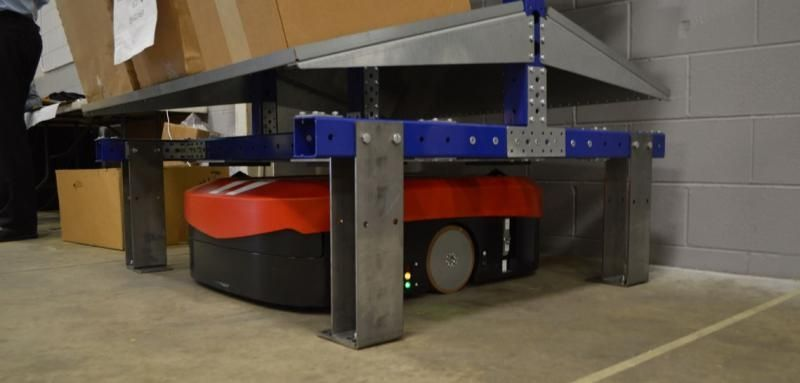 FlexQube cart integrated with an AGV
