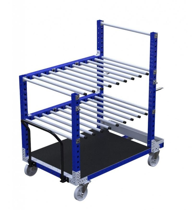 Industrial kit cart for hanging materials by FlexQube