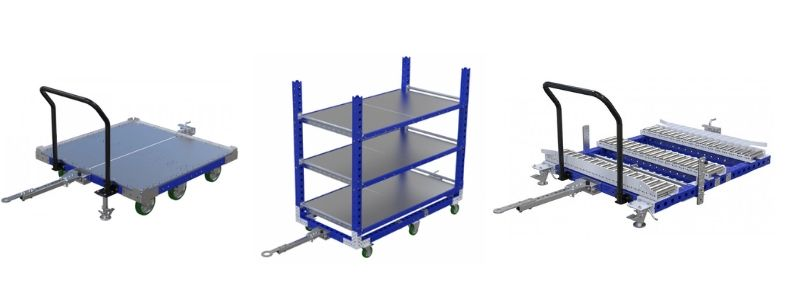 Variety of FlexQube material handling designs