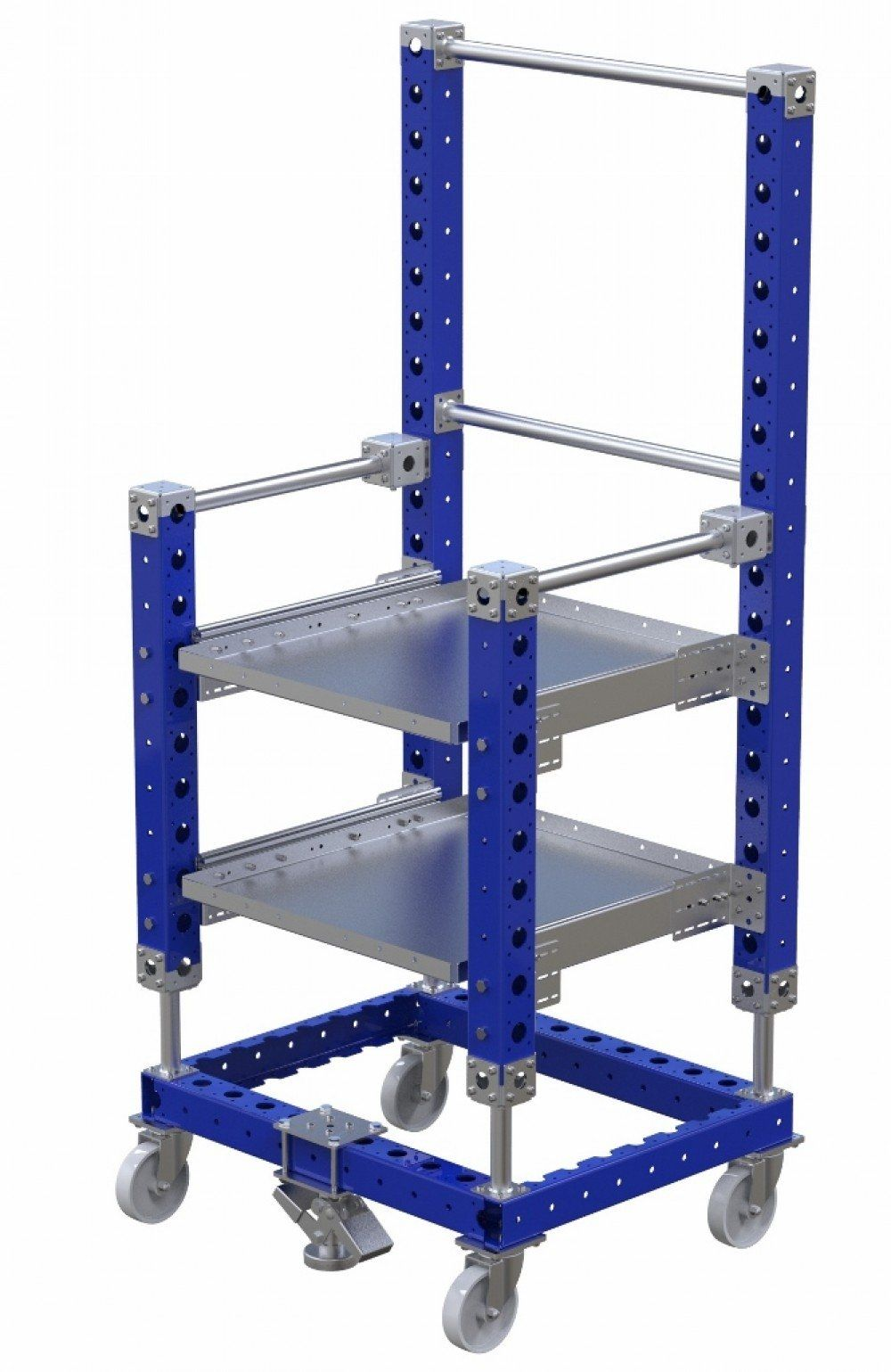 Tool cart with telescopic shelves by FlexQube
