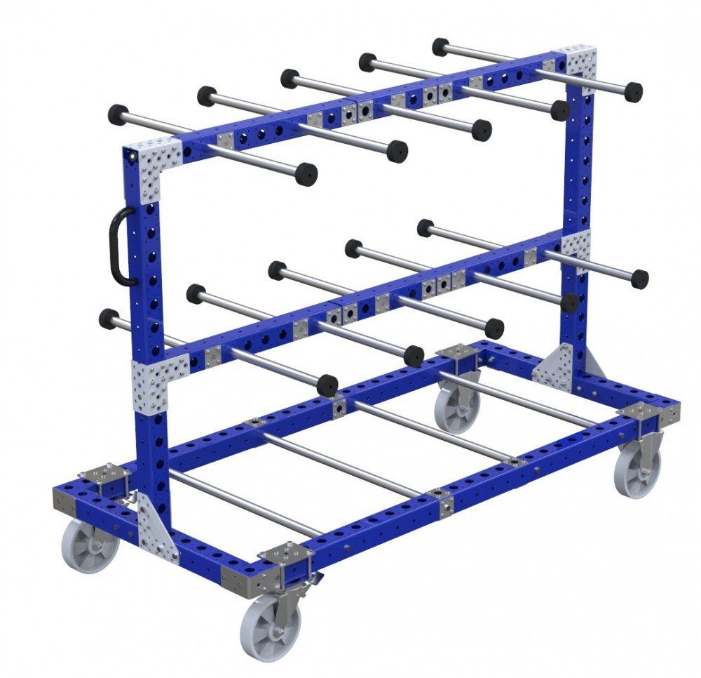 Industrial tube cart with handles by FlexQube
