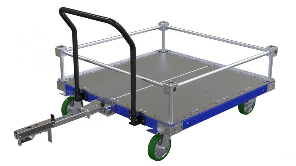 Material handling cart for cylinder blocks