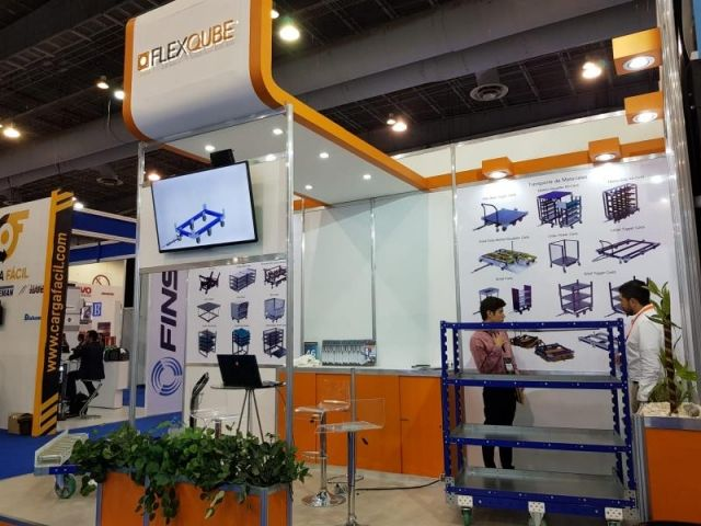FlexQube booth at Intralogistics Latin America