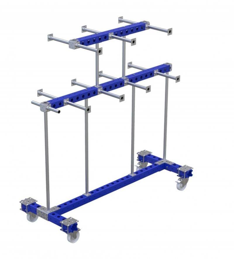 Modular hanging kit cart by FlexQube
