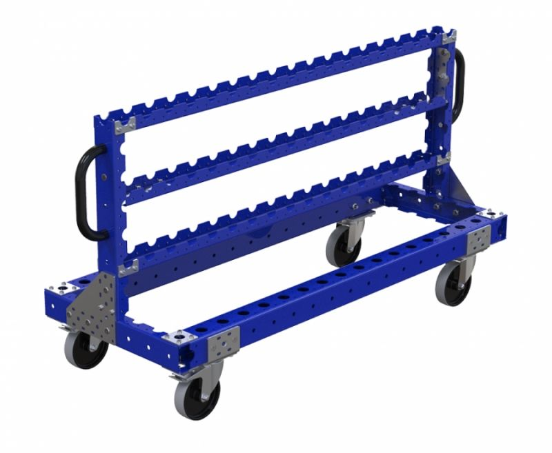 Industrial kit cart for hanging bins by FlexQube