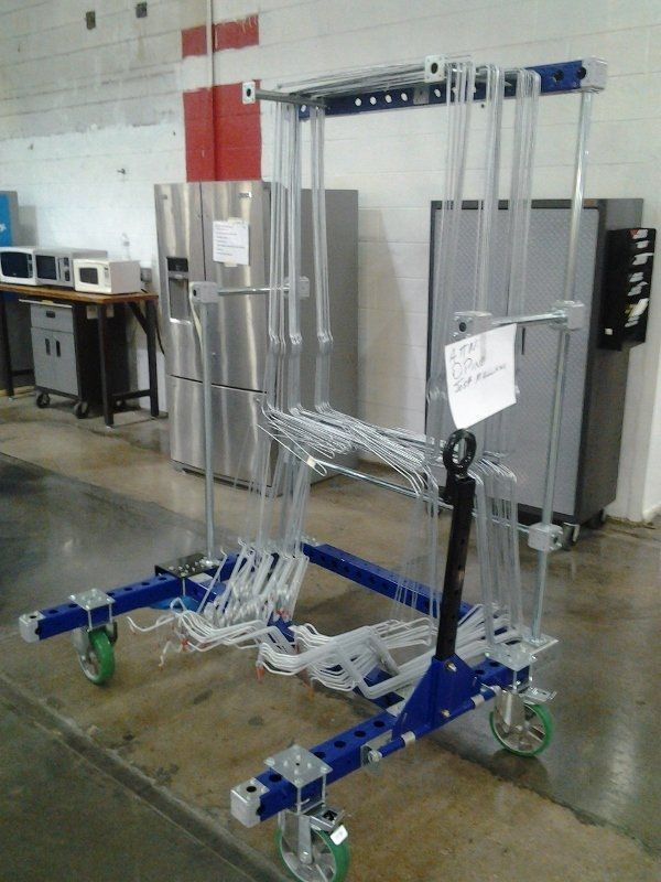 Industrial kit cart for heat loops at Whirlpool