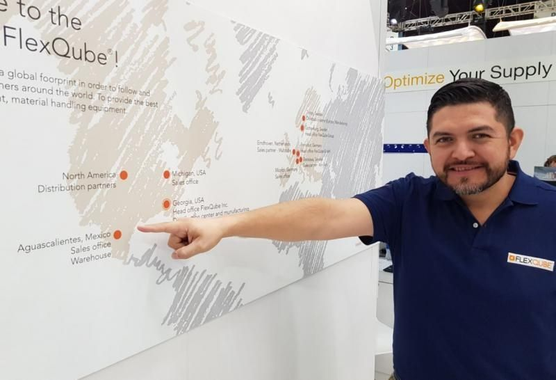 FlexQube Mexico Sales Manager Hector Flores at MODEX 2018