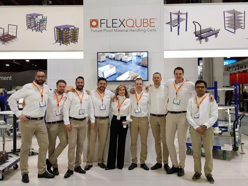 FlexQube employees at MODEX 2018