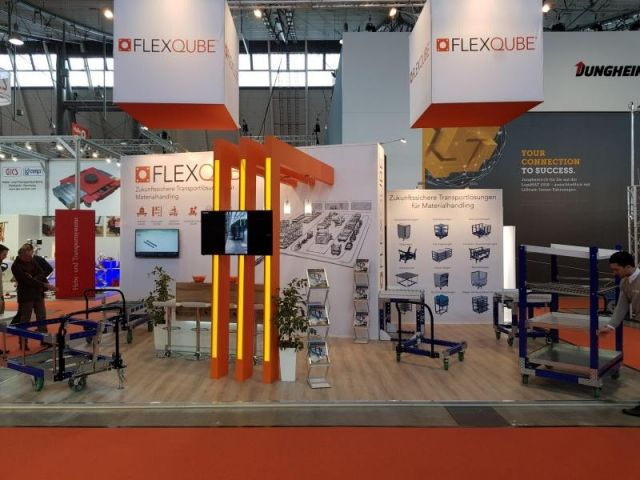 FlexQube booth at LogiMAT 2018