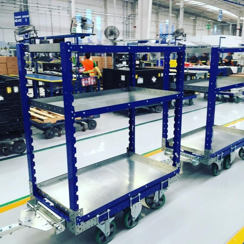 Shelf carts by FlexQube at Autoliv in Mexico