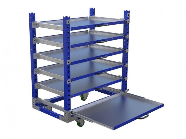 Extendable shelf cart by FlexQube