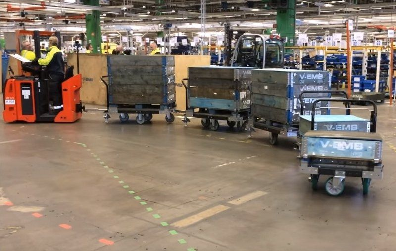 How to Start the Transition from Forklifts to a Tugger Train System