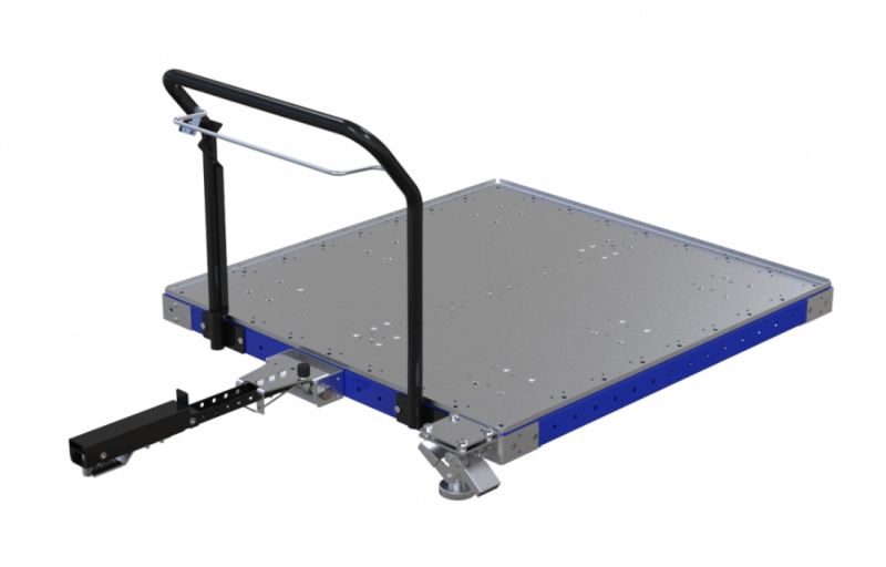 modular tugger cart with steel deck by FlexQube