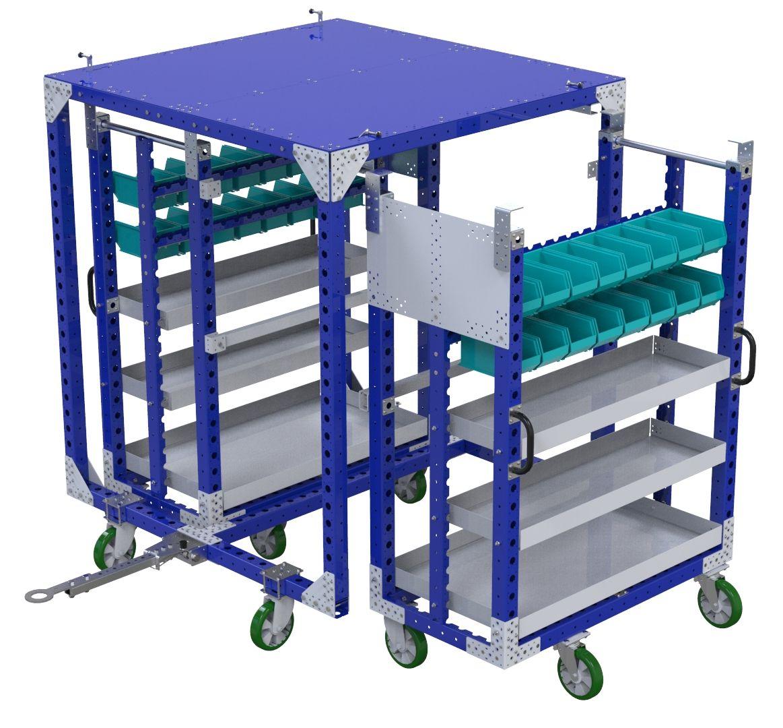 FlexQube 2 in 1 mother-daughter cart at Siemens in California