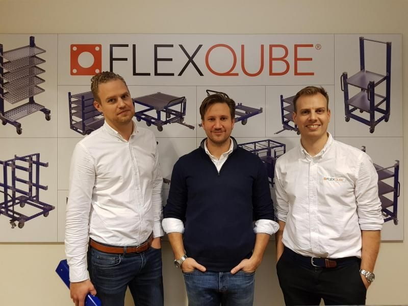 FlexQube founders at the FlexQube office