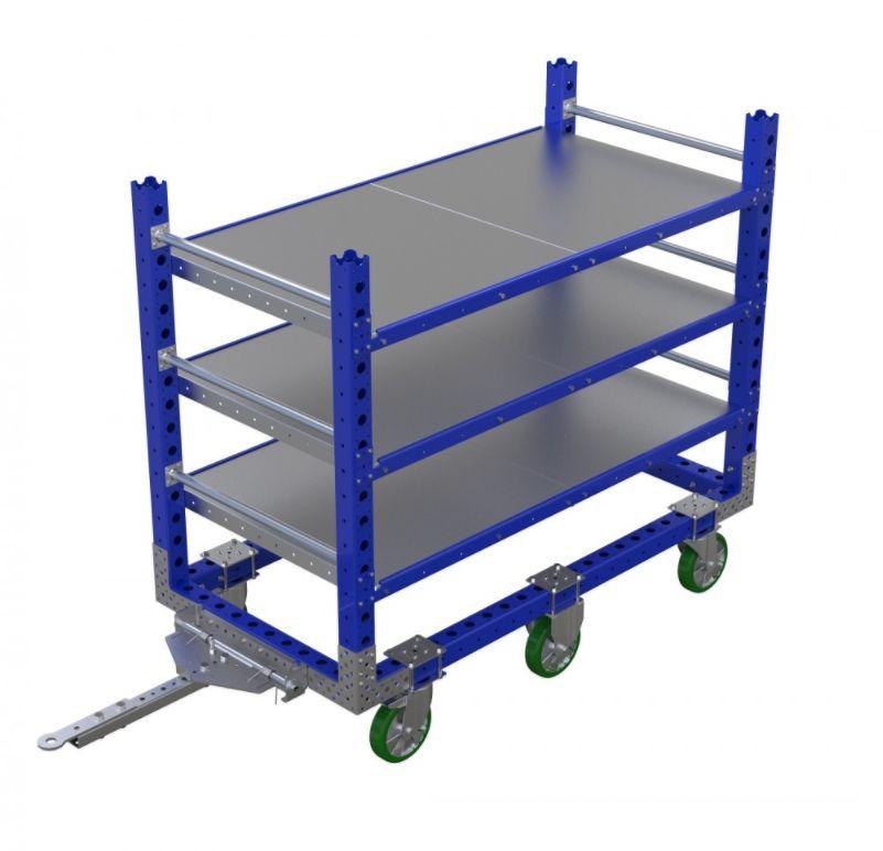 3 Shelf tugger cart by FlexQube