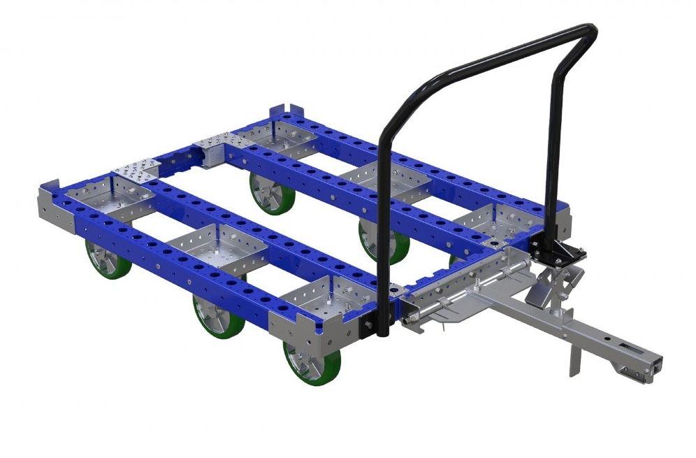 FlexQube tugger cart without steel deck