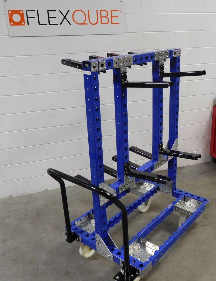 Flexqube custom designed hanging cart