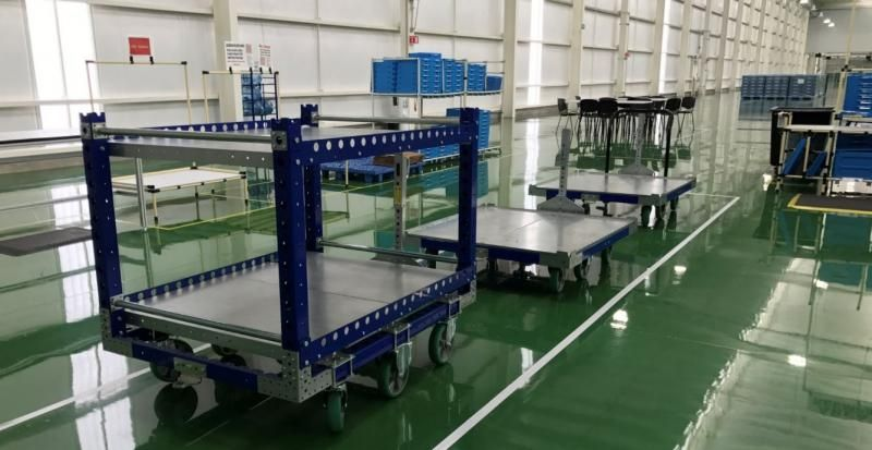 Tugger carts in lean manufacturing