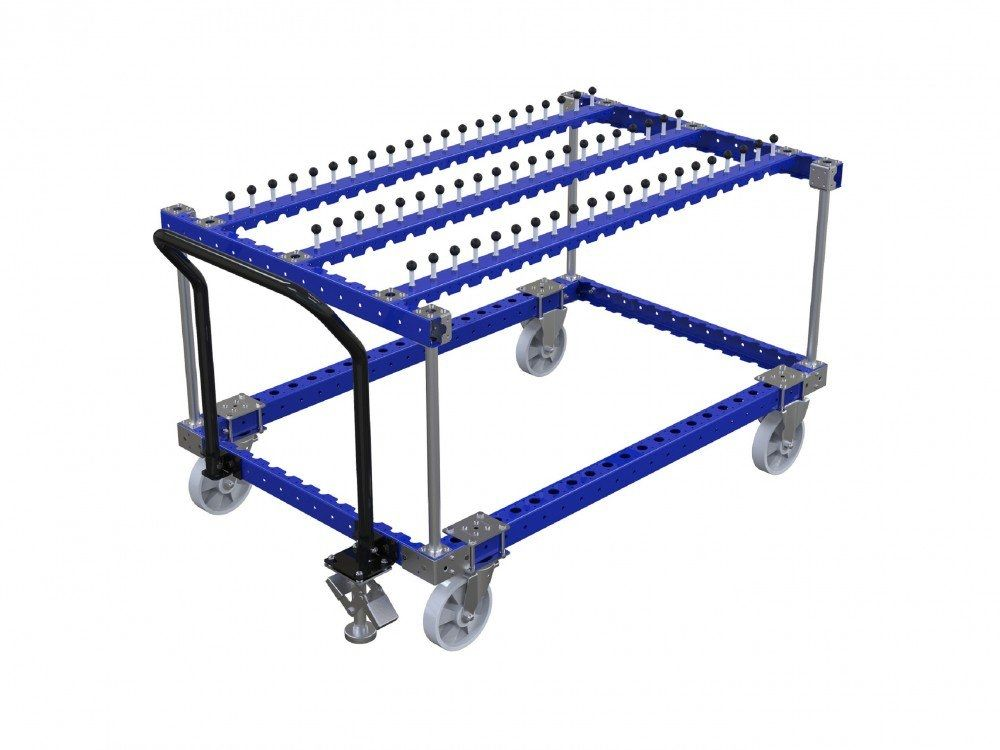 Industrial hose cart for hanging components by FlexQube