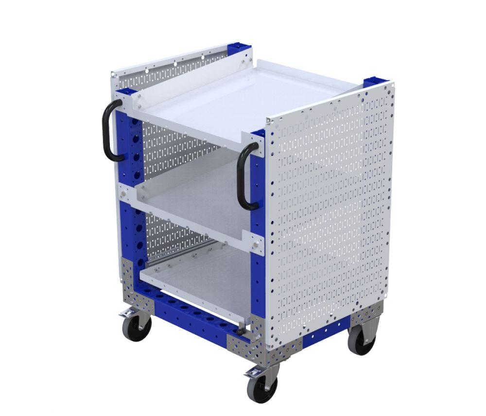 Industrial modular material handling cart