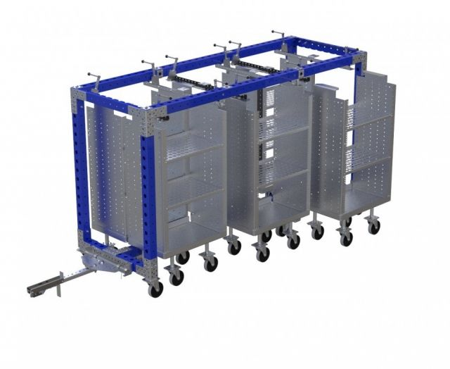 modular 6 in 1 mother-daughter cart
