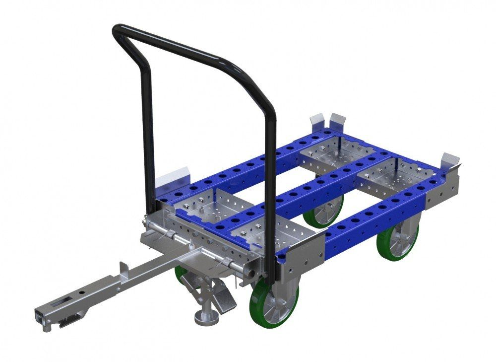FlexQube industrial tugger cart