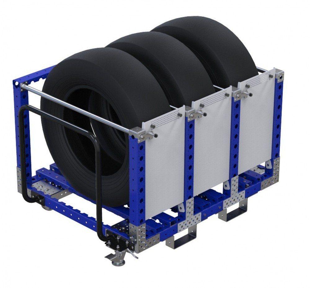 FlexQube kit cart for transporting tyres