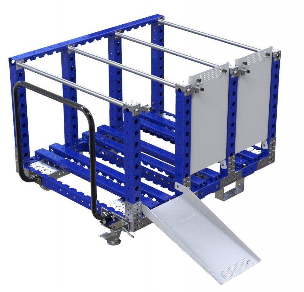 Modular industrial cart for material handling kit cart for tyres