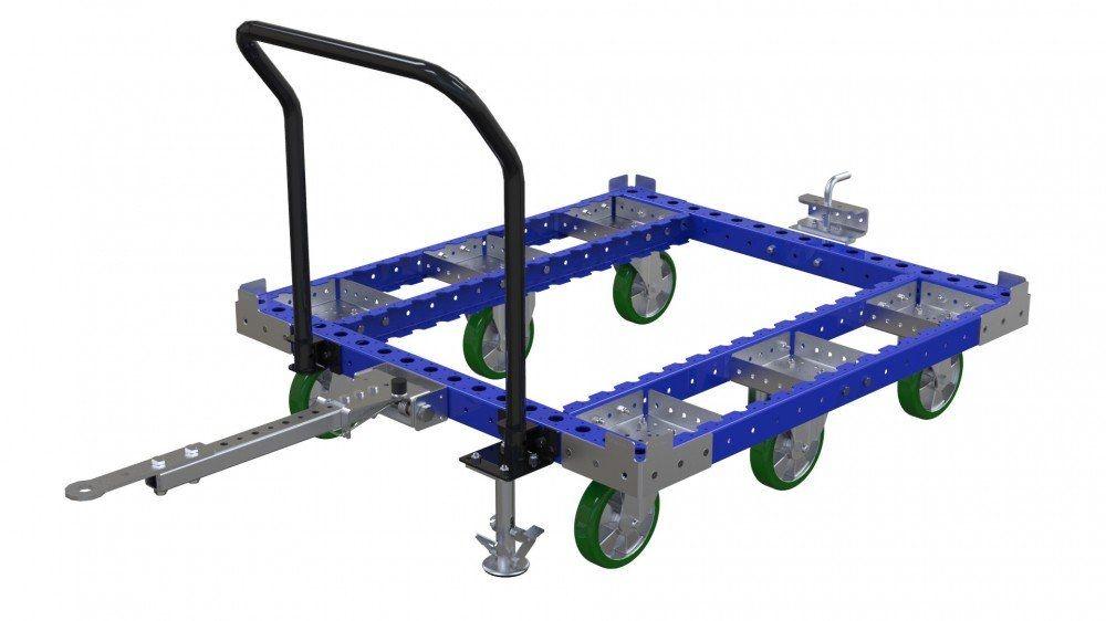 FlexQube tugger cart without steel top deck