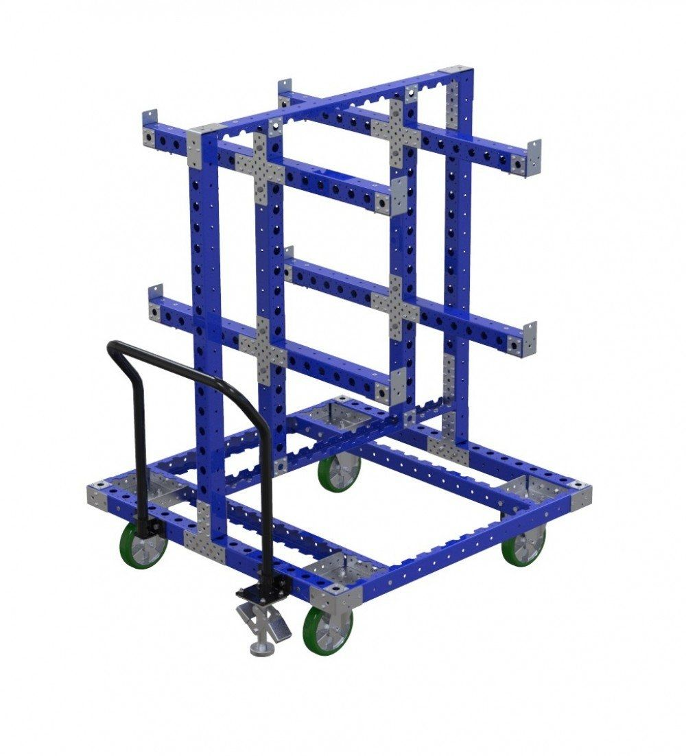 FlexQube cart for hanging components