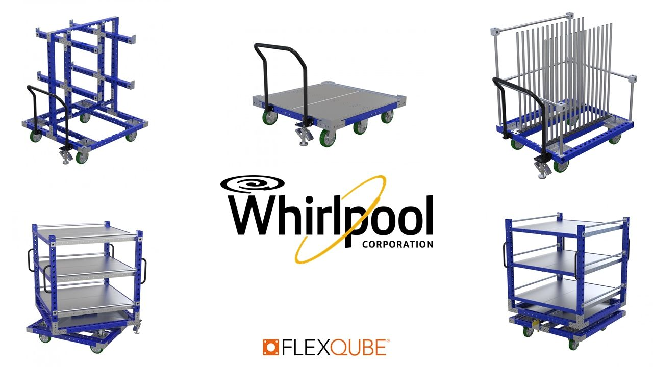 FlexQube carts helping the Whirlpool corporation