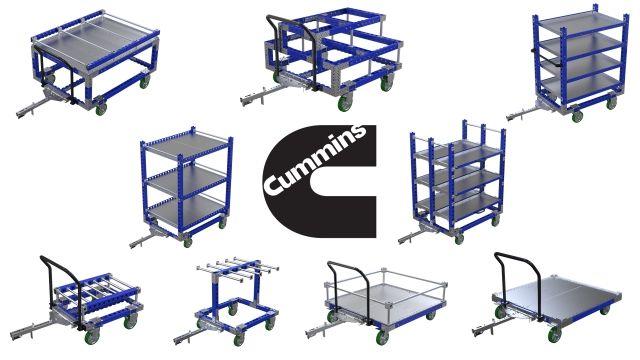 FlexQube carts helping Cummins