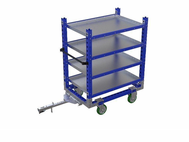 FlexQube shelf cart for plastic containers