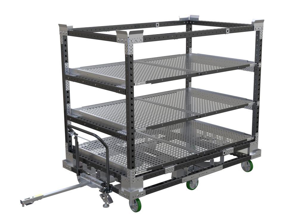 FlexQube transport rack for inner ceiling parts for truck cabs