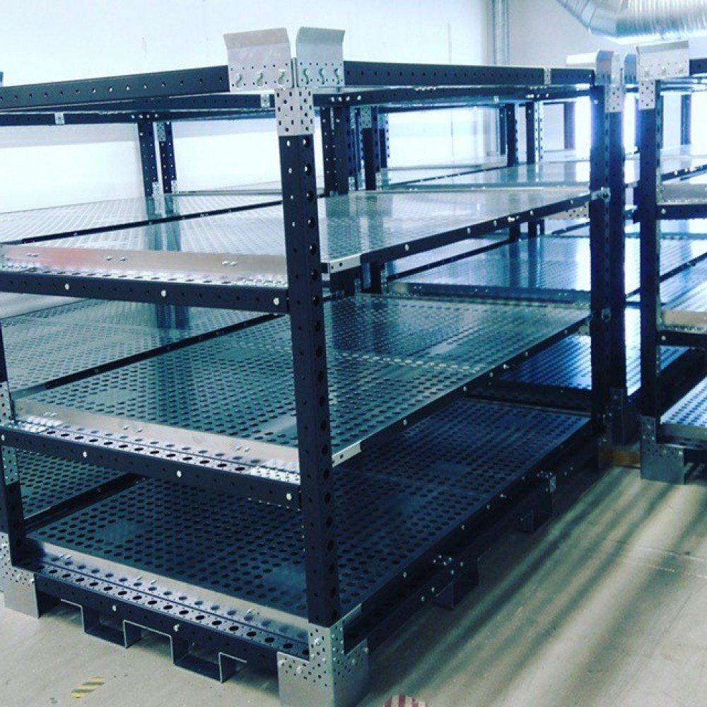 FlexQube racks stacked together