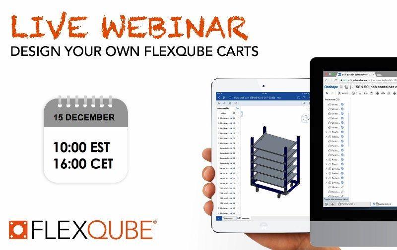 Live webinar image for designing carts