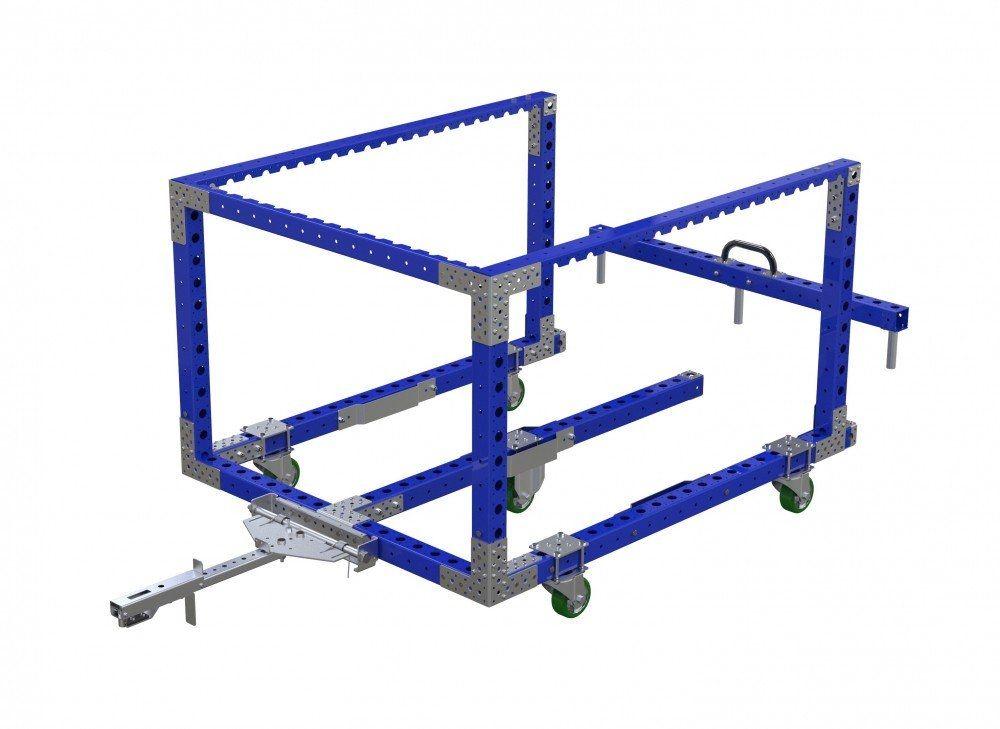 Modular mother-daughter cart