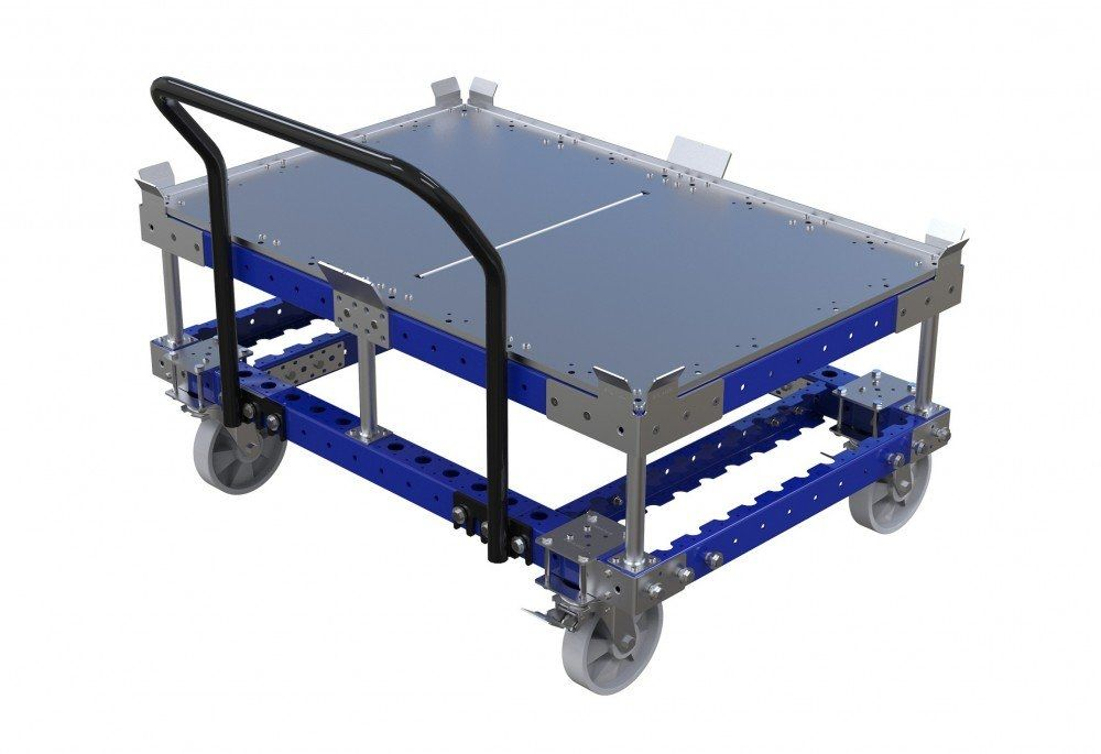 Modular pallet cart with subframe