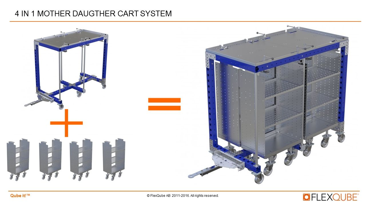 four in 1 mother-daughter cart system